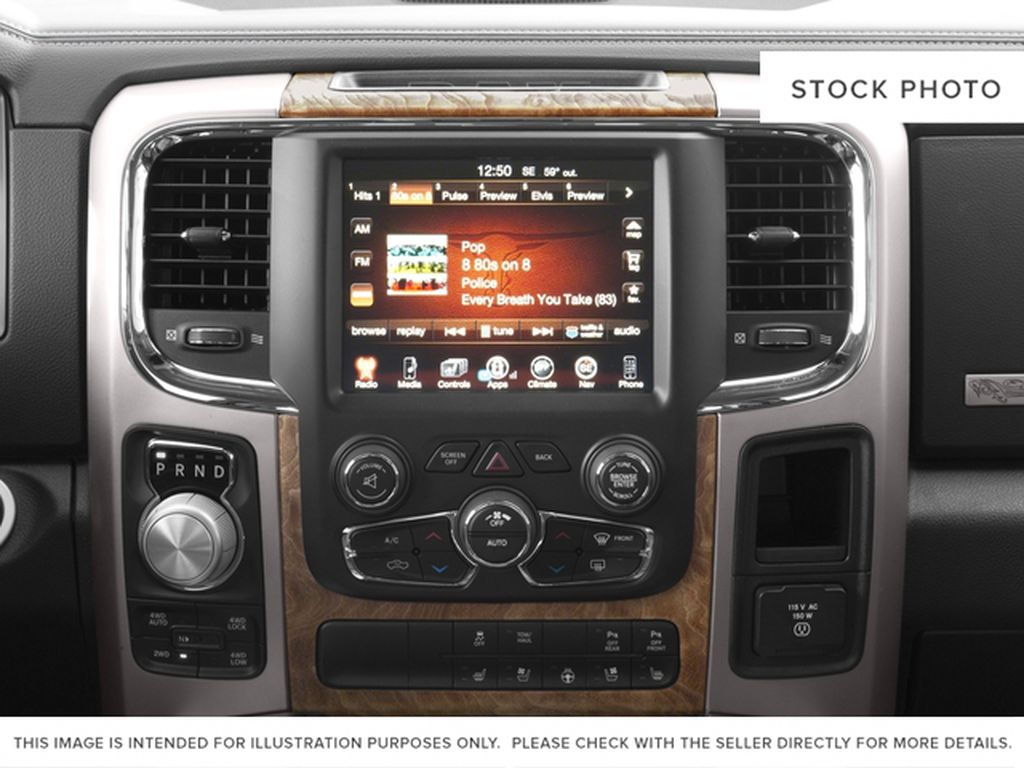 Green[Black Forest Green Pearl] 2016 Ram 1500 Radio Controls Closeup Photo in Fort Macleod AB