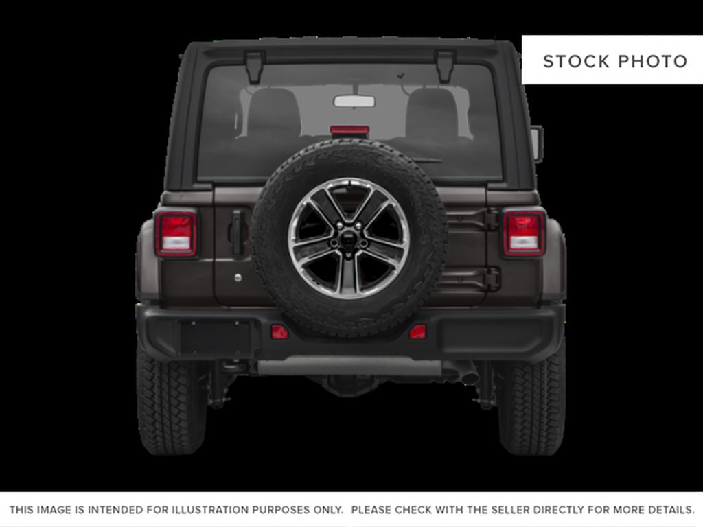Black[Black] 2020 Jeep Wrangler Unlimited Rear of Vehicle Photo in Fort Macleod AB