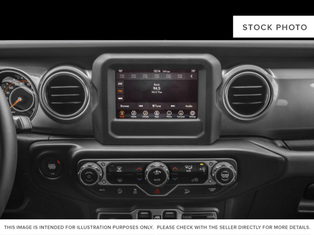 Silver[Billet Silver Metallic] 2020 Jeep Wrangler Unlimited Radio Controls Closeup Photo in Fort Macleod AB