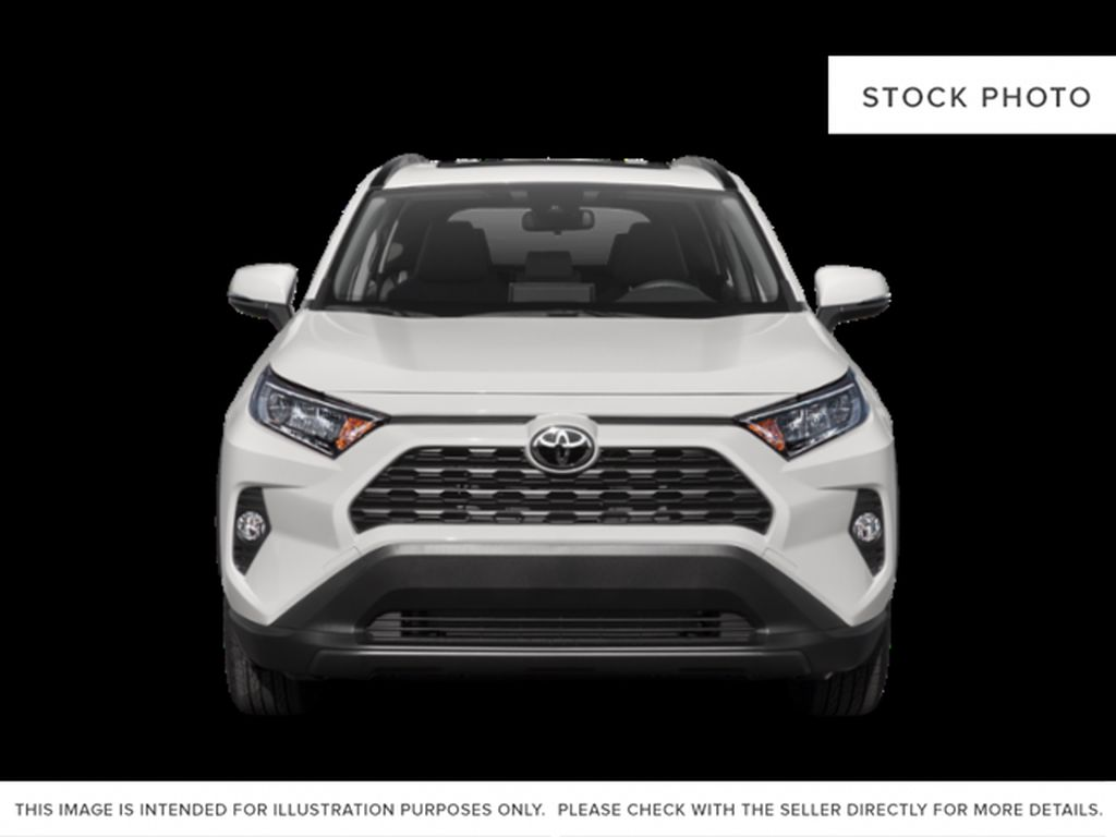 Gray[Magnetic Grey Metallic] 2021 Toyota RAV4 Front Vehicle Photo in Beverly Hills NU
