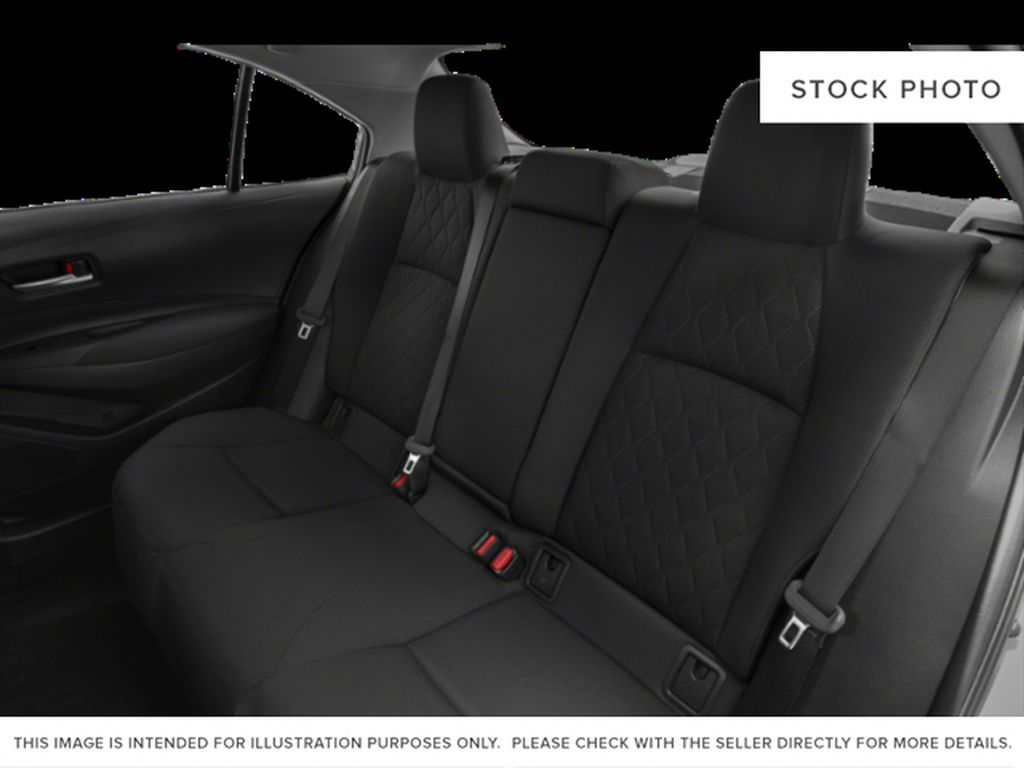 White[Super White] 2021 Toyota Corolla Rear Seat Photo in Beverly Hills NU