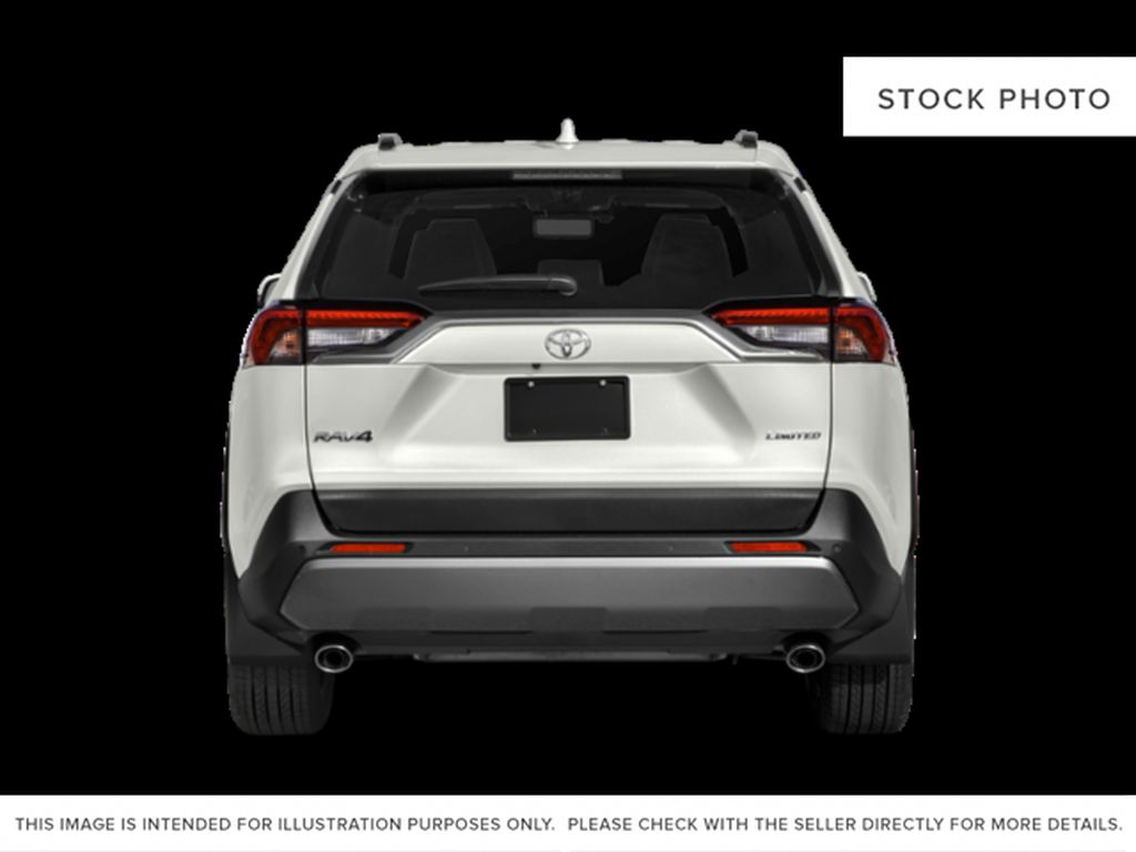 Silver[Silver Sky Metallic] 2021 Toyota RAV4 Rear of Vehicle Photo in Beverly Hills NU