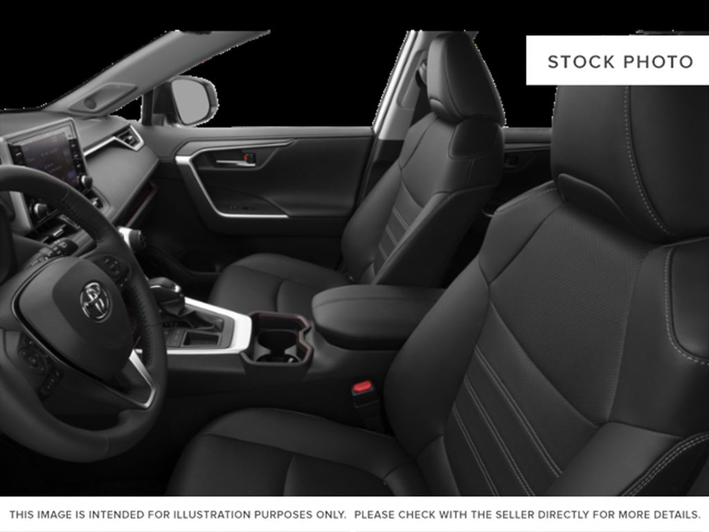 Silver[Silver Sky Metallic] 2021 Toyota RAV4 Left Front Interior Photo in Beverly Hills NU