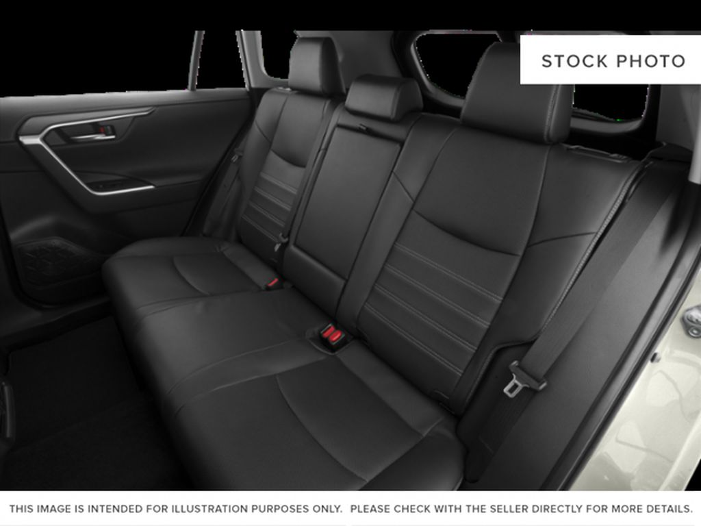 Silver[Silver Sky Metallic] 2021 Toyota RAV4 Rear Seat Photo in Beverly Hills NU