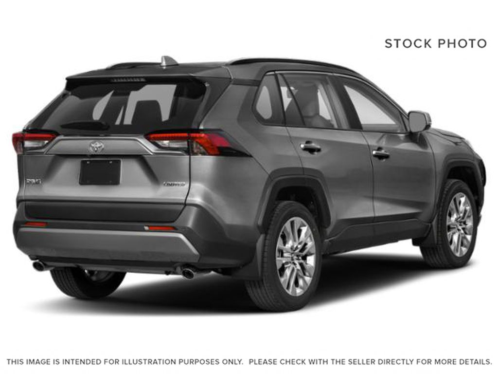 Silver[Silver Sky Metallic] 2021 Toyota RAV4 Right Rear Corner Photo in Beverly Hills NU