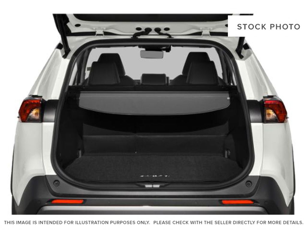 Silver[Silver Sky Metallic] 2021 Toyota RAV4 Trunk / Cargo Area Photo in Beverly Hills NU