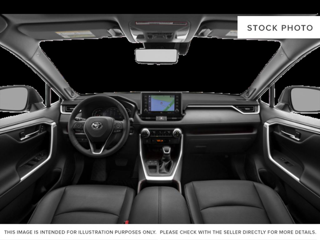 Silver[Silver Sky Metallic] 2021 Toyota RAV4 Front Seats and Dash Photo in Beverly Hills NU