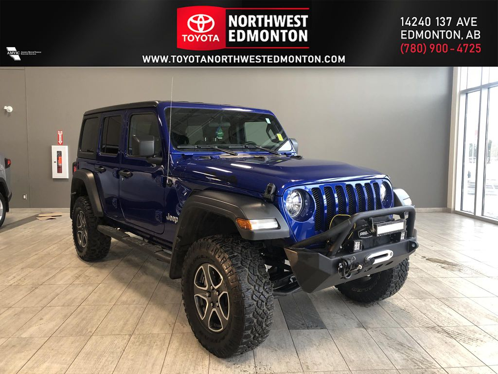 Blue 2020 Jeep Wrangler Unlimited w/ Winch & 3-Inch Lift