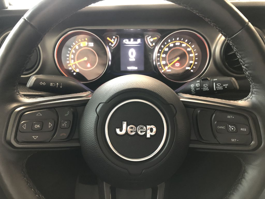 Blue 2020 Jeep Wrangler Unlimited w/ Winch & 3-Inch Lift Right Side Front Seat  Photo in Edmonton AB