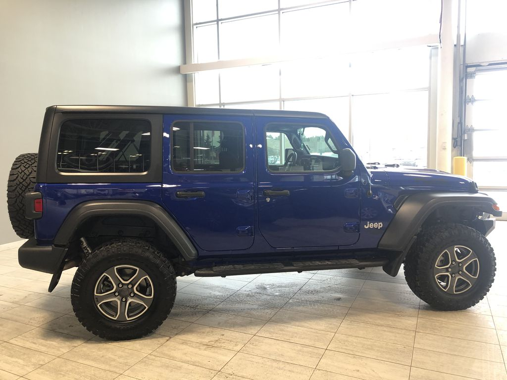 Blue 2020 Jeep Wrangler Unlimited w/ Winch & 3-Inch Lift Rear Seat Photo in Edmonton AB