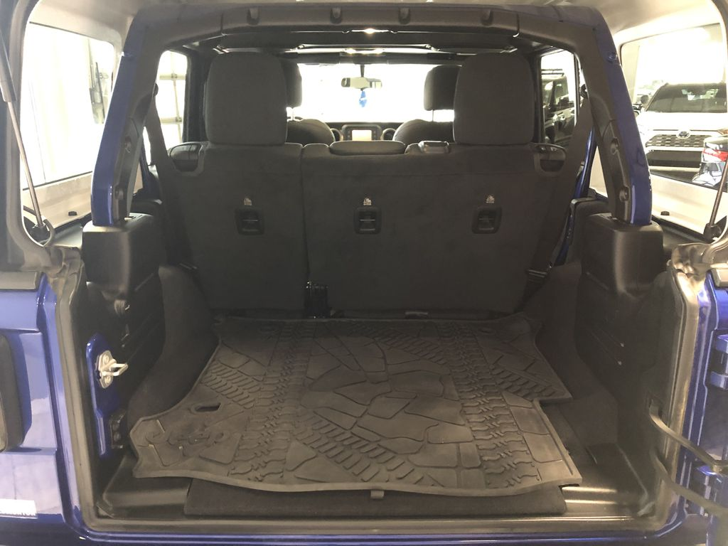 Blue 2020 Jeep Wrangler Unlimited w/ Winch & 3-Inch Lift Steering Wheel/Instruments Photo in Edmonton AB