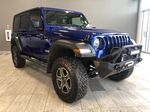 Blue 2020 Jeep Wrangler Unlimited w/ Winch & 3-Inch Lift Left Front Interior Photo in Edmonton AB