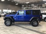 Blue 2020 Jeep Wrangler Unlimited w/ Winch & 3-Inch Lift Left Rear Corner Photo in Edmonton AB
