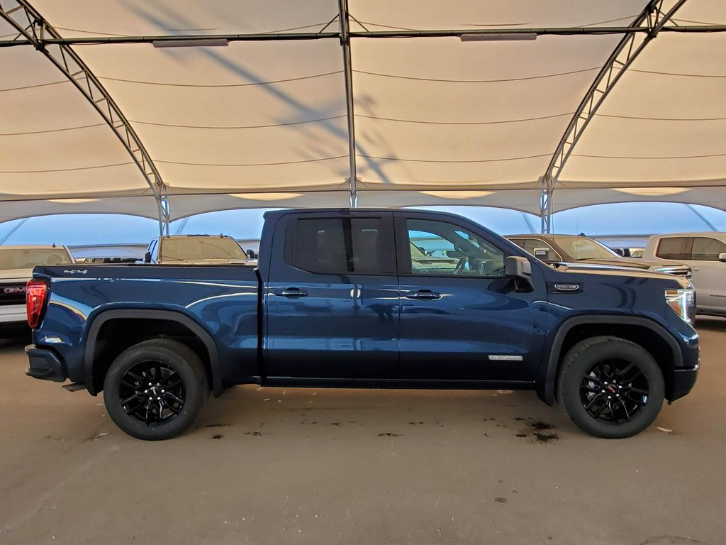 Blue 2021 GMC Sierra 1500 Rear of Vehicle Photo in Airdrie AB