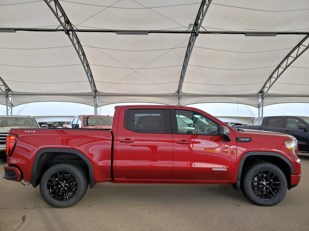 Red 2021 GMC Sierra 1500 Rear of Vehicle Photo in Airdrie AB