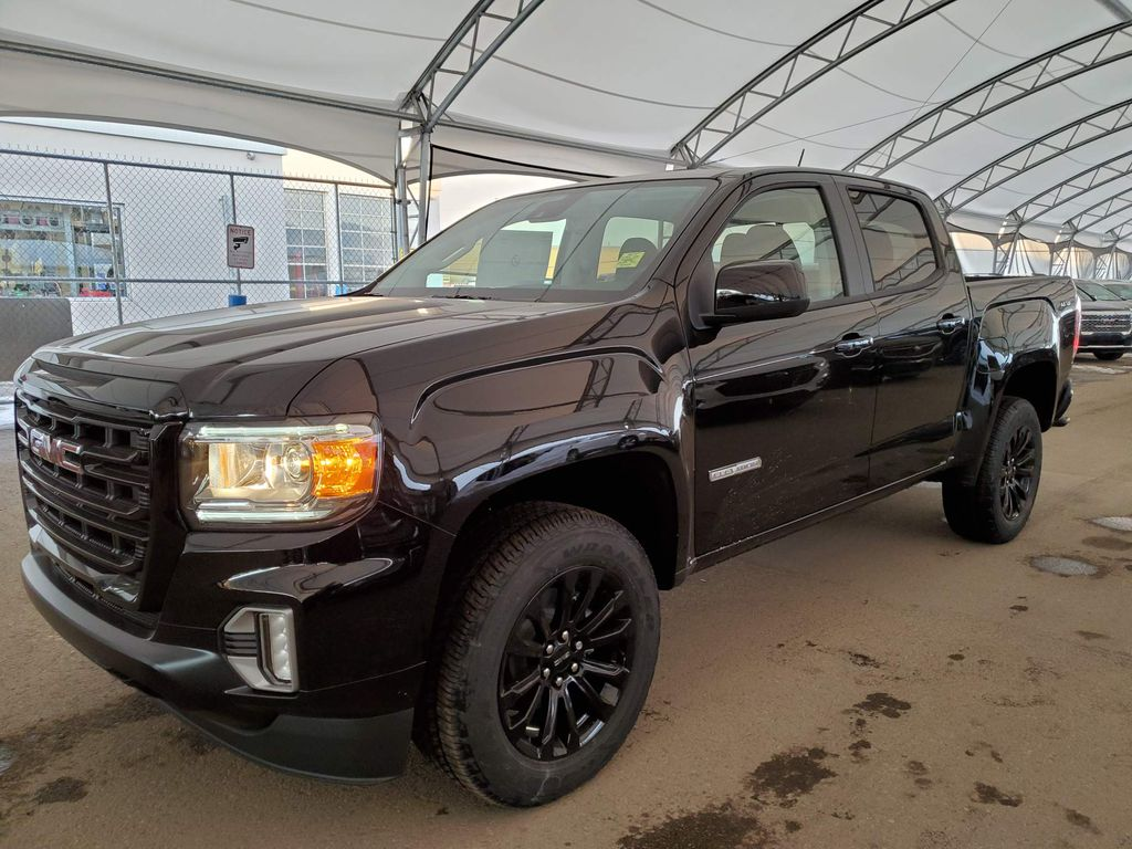 Black 2021 GMC Canyon Steering Wheel and Dash Photo in Airdrie AB