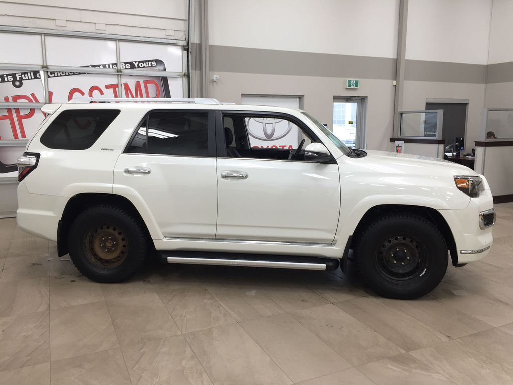 White[Alpine White] 2018 Toyota 4Runner LIMITED - 7 PASSENGER Right Side Photo in Sherwood Park AB