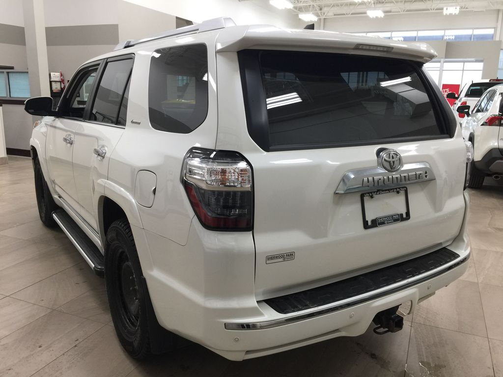 White[Alpine White] 2018 Toyota 4Runner LIMITED - 7 PASSENGER Left Rear Corner Photo in Sherwood Park AB