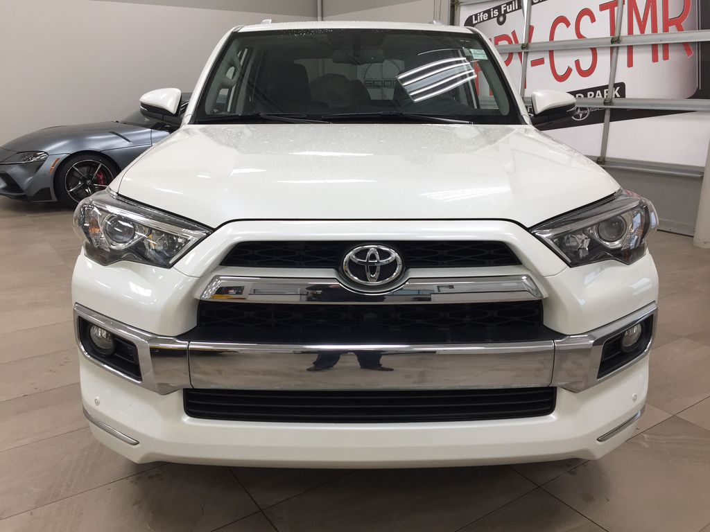 White[Alpine White] 2018 Toyota 4Runner LIMITED - 7 PASSENGER Front Vehicle Photo in Sherwood Park AB