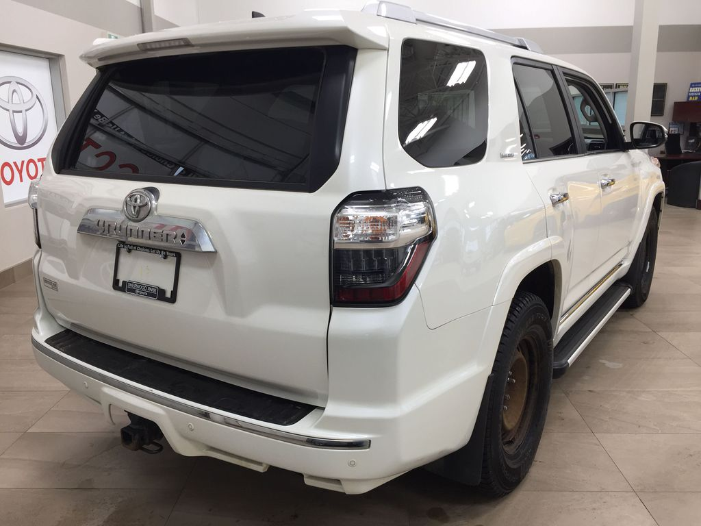 White[Alpine White] 2018 Toyota 4Runner LIMITED - 7 PASSENGER Right Rear Corner Photo in Sherwood Park AB