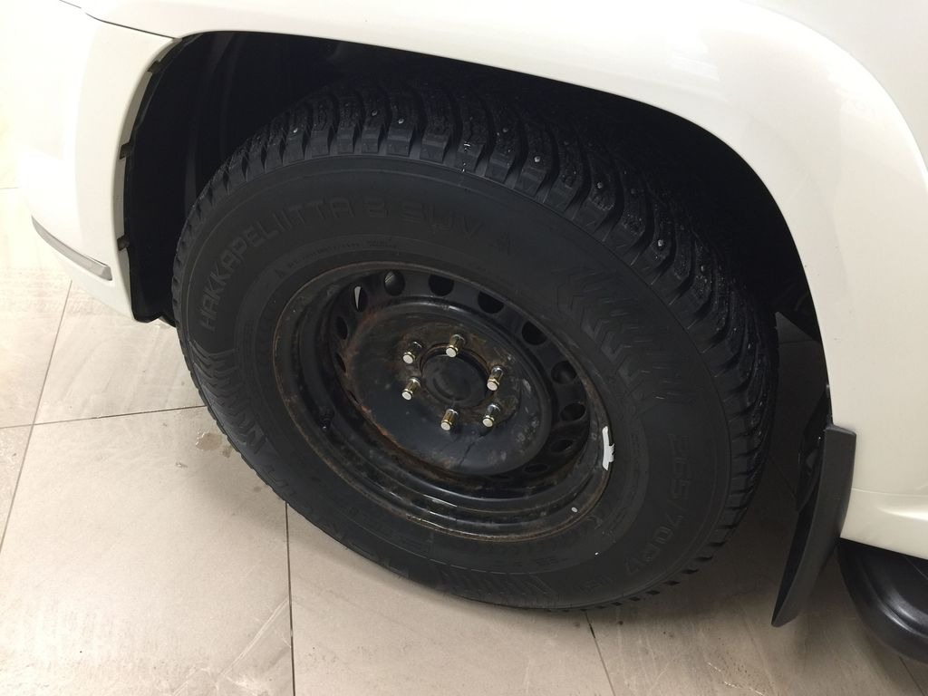 White[Alpine White] 2018 Toyota 4Runner LIMITED - 7 PASSENGER Left Front Rim and Tire Photo in Sherwood Park AB