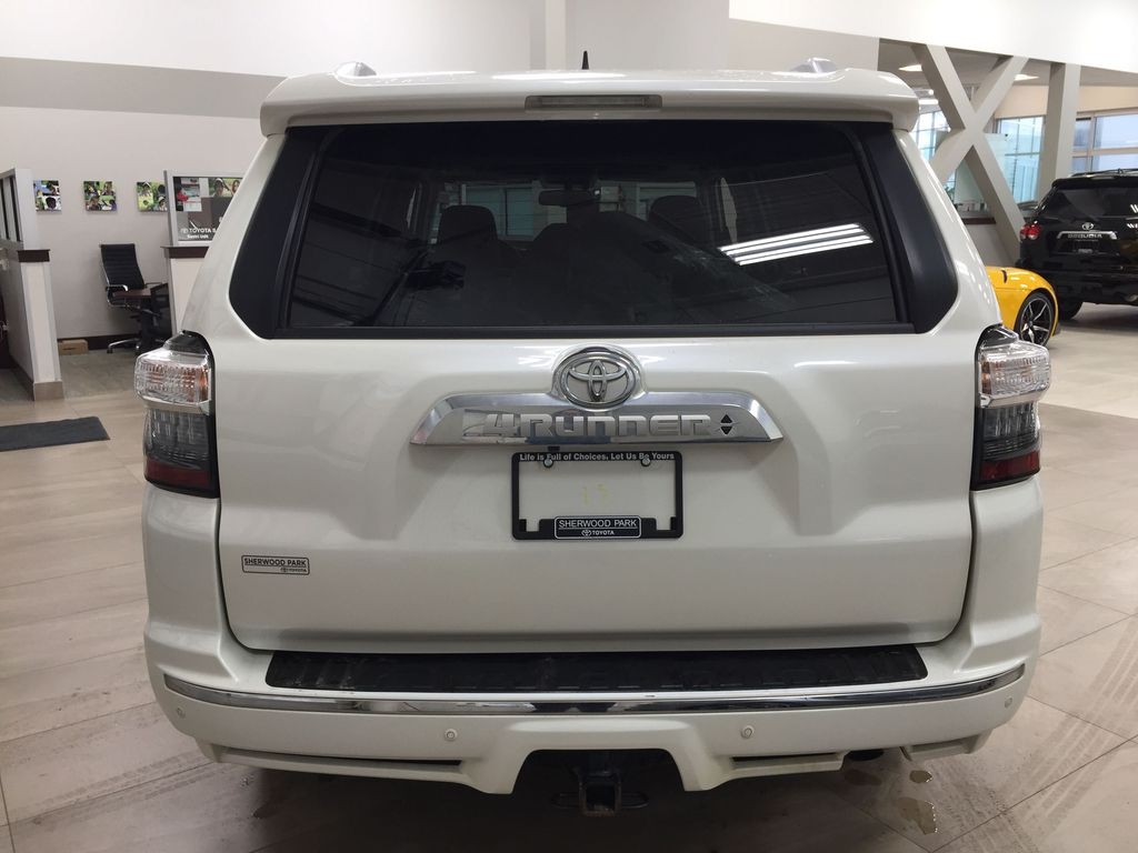 White[Alpine White] 2018 Toyota 4Runner LIMITED - 7 PASSENGER Rear of Vehicle Photo in Sherwood Park AB