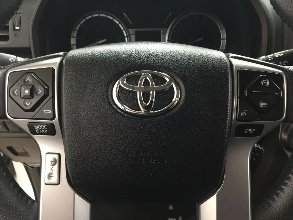White[Alpine White] 2018 Toyota 4Runner LIMITED - 7 PASSENGER Steering Wheel and Dash Photo in Sherwood Park AB
