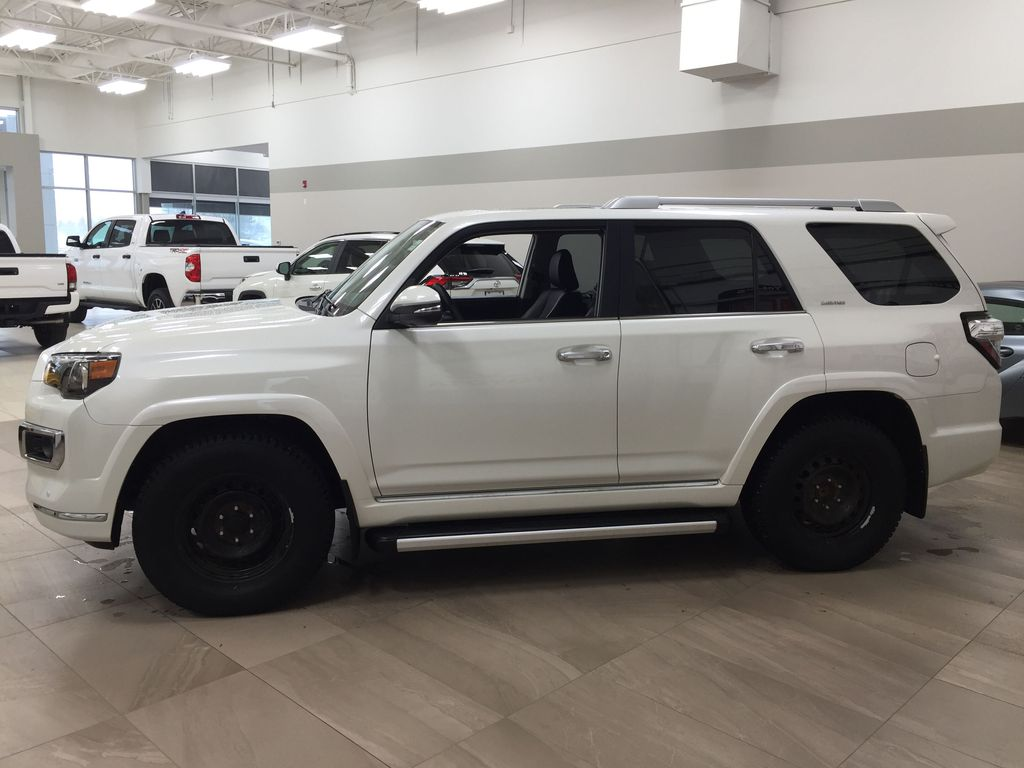 White[Alpine White] 2018 Toyota 4Runner LIMITED - 7 PASSENGER Left Side Photo in Sherwood Park AB
