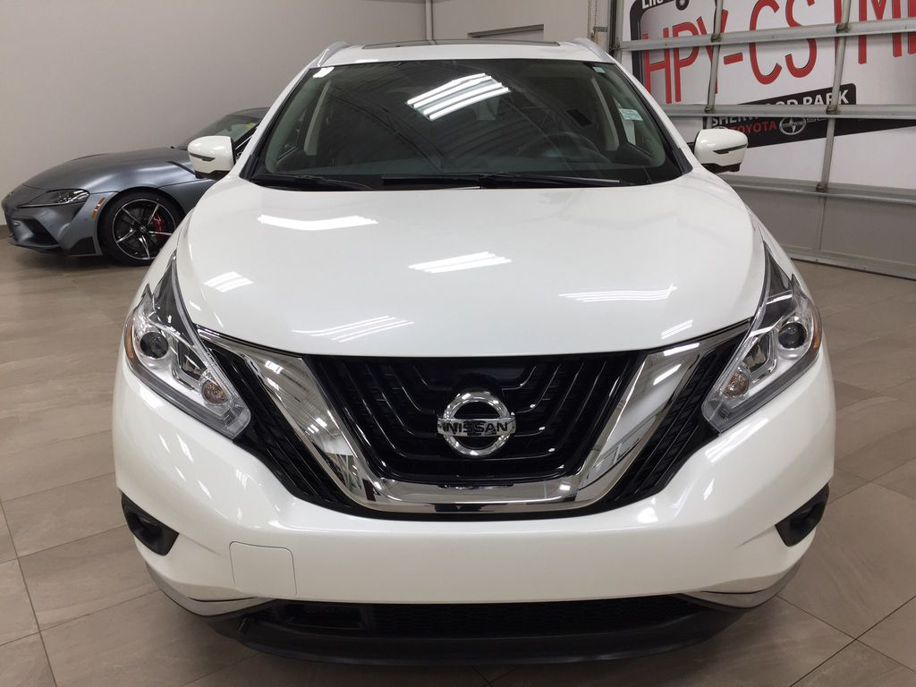 White[Pearl White] 2018 Nissan Murano PLATINUM / NO ACCIDENTS Front Vehicle Photo in Sherwood Park AB