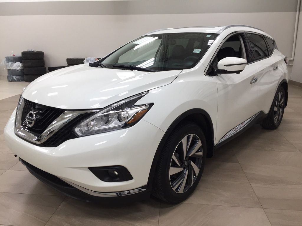 White[Pearl White] 2018 Nissan Murano PLATINUM / NO ACCIDENTS Left Front Corner Photo in Sherwood Park AB