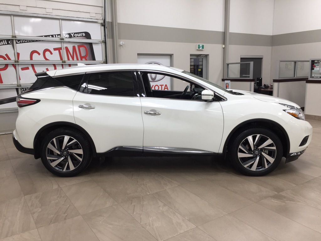 White[Pearl White] 2018 Nissan Murano PLATINUM / NO ACCIDENTS Right Side Photo in Sherwood Park AB