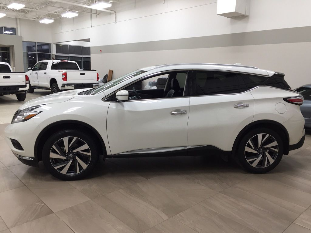 White[Pearl White] 2018 Nissan Murano PLATINUM / NO ACCIDENTS Left Side Photo in Sherwood Park AB