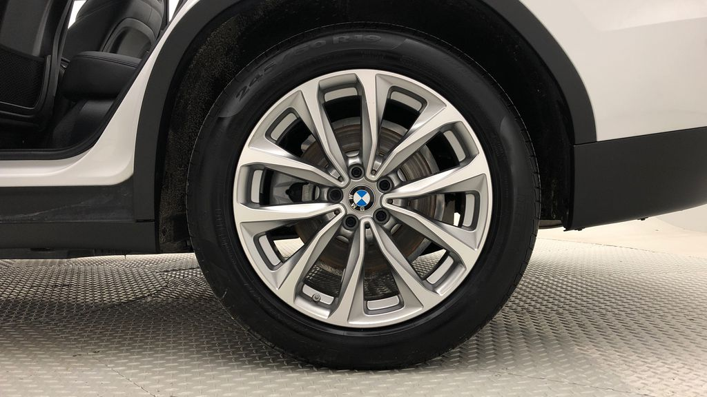 White[Alpine White] 2018 BMW X3 xDrive30i - Leather, Panoramic Roof, Navigation Left Rear Rim and Tire Photo in Winnipeg MB
