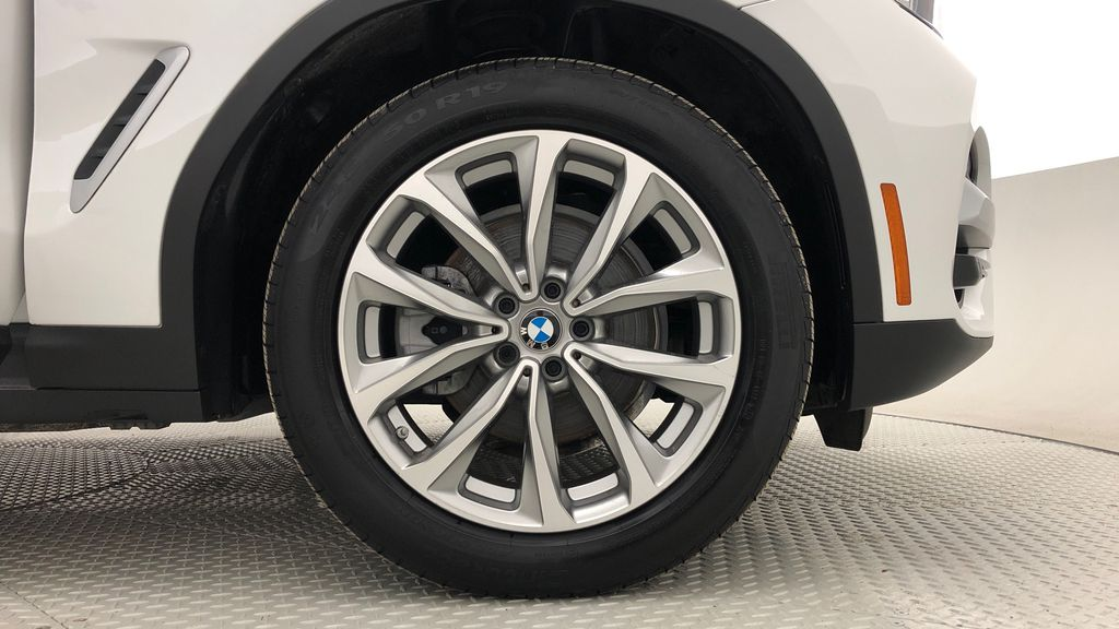 White[Alpine White] 2018 BMW X3 xDrive30i - Leather, Panoramic Roof, Navigation Right Front Rim and Tire Photo in Winnipeg MB
