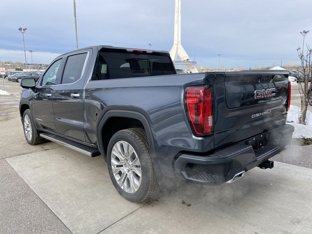 Gray[Dark Sky Metallic] 2021 GMC Sierra 1500 Denali Left Rear Corner Photo in Calgary AB