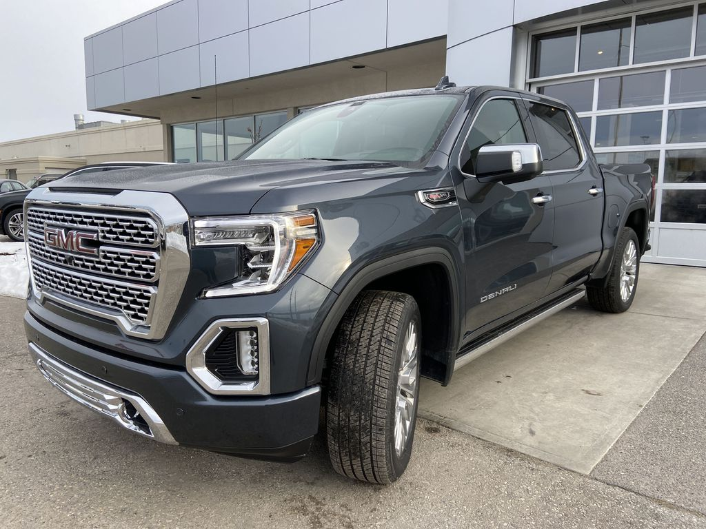 Gray[Dark Sky Metallic] 2021 GMC Sierra 1500 Denali Left Front Head Light / Bumper and Grill in Calgary AB