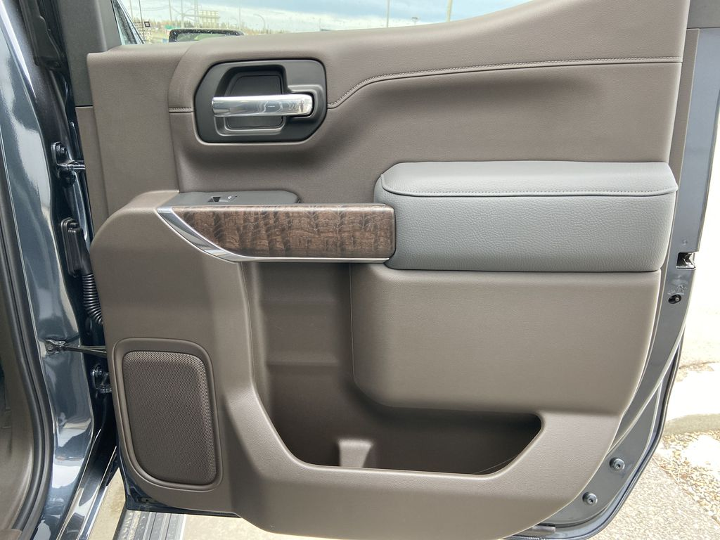 Gray[Dark Sky Metallic] 2021 GMC Sierra 1500 Denali Right Rear Interior Door Panel Photo in Calgary AB
