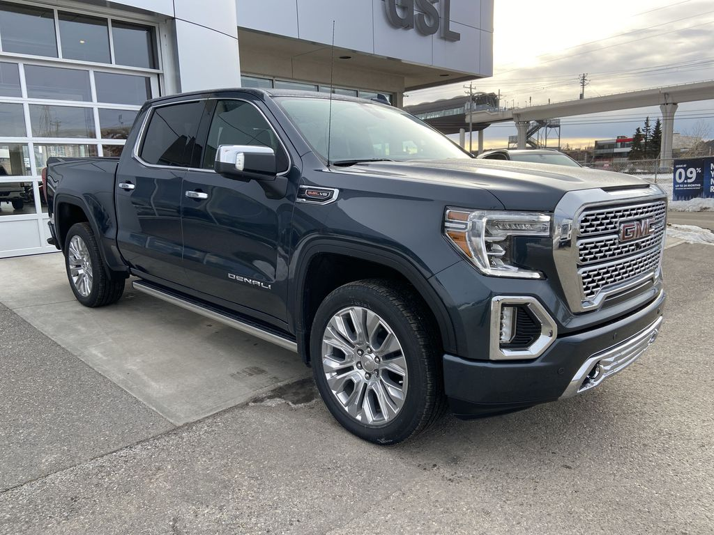 Gray[Dark Sky Metallic] 2021 GMC Sierra 1500 Denali Right Front Corner Photo in Calgary AB