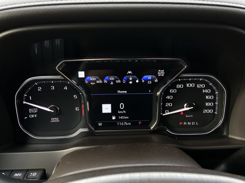 Gray[Dark Sky Metallic] 2021 GMC Sierra 1500 Denali Odometer Photo in Calgary AB