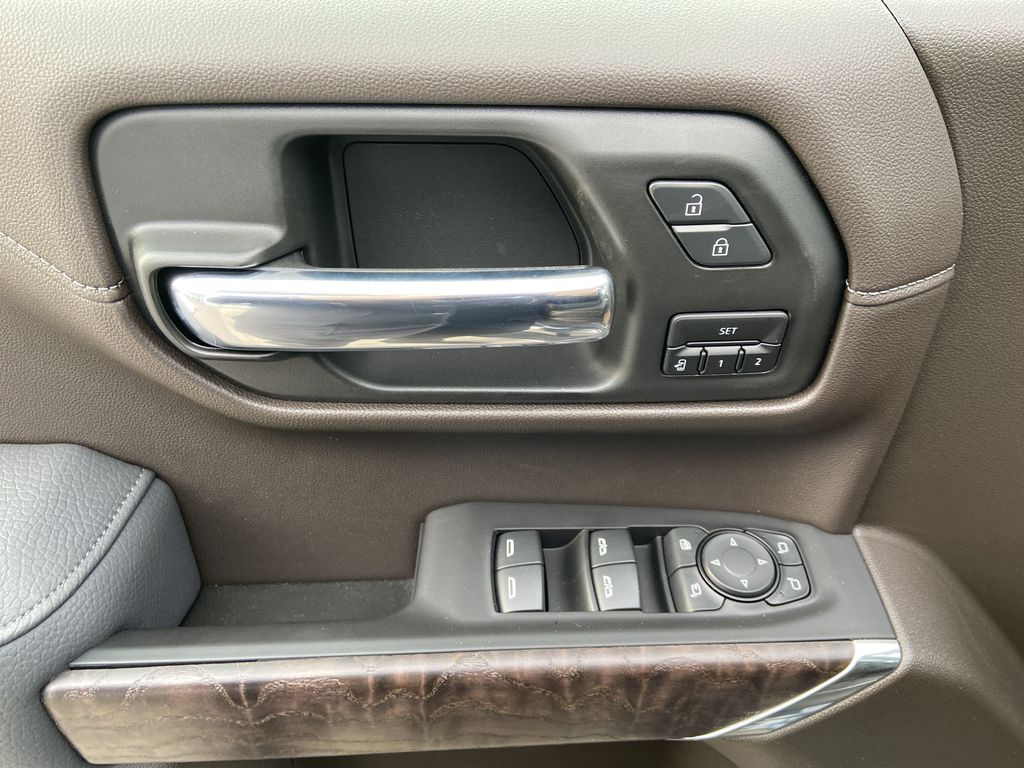 Gray[Dark Sky Metallic] 2021 GMC Sierra 1500 Denali  Driver's Side Door Controls Photo in Calgary AB