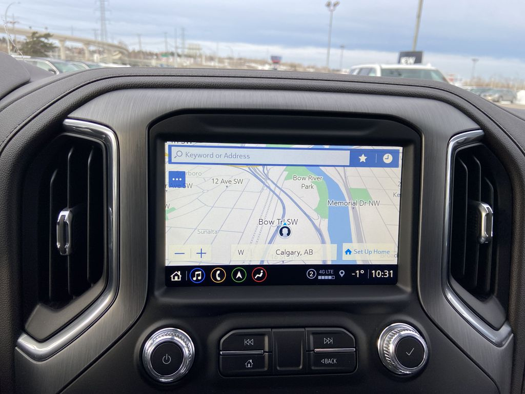 Gray[Dark Sky Metallic] 2021 GMC Sierra 1500 Denali Navigation Screen Closeup Photo in Calgary AB