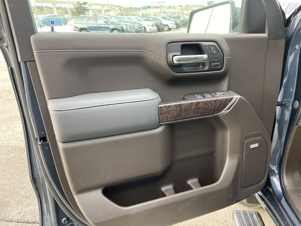 Gray[Dark Sky Metallic] 2021 GMC Sierra 1500 Denali Left Front Interior Door Panel Photo in Calgary AB