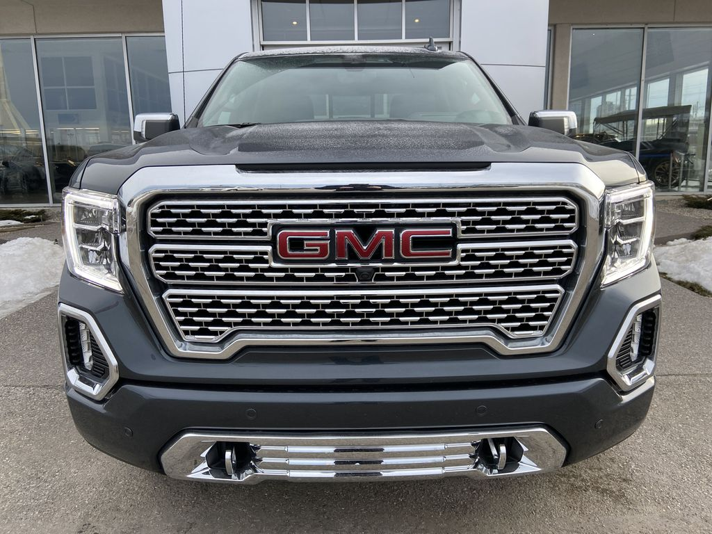 Gray[Dark Sky Metallic] 2021 GMC Sierra 1500 Denali Front Vehicle Photo in Calgary AB