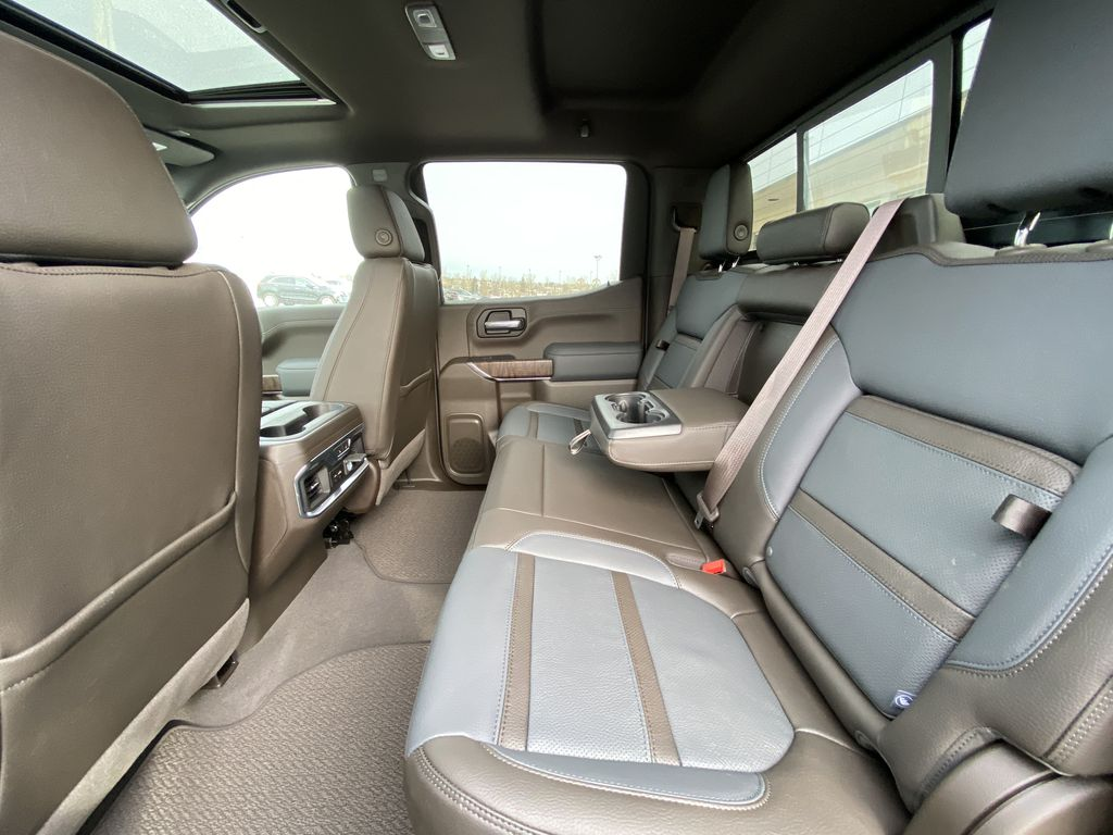 Gray[Dark Sky Metallic] 2021 GMC Sierra 1500 Denali Left Side Rear Seat  Photo in Calgary AB