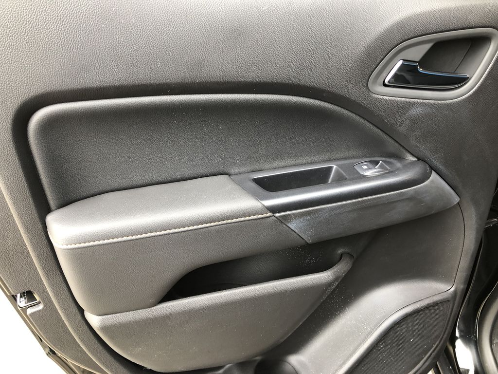 Black[Onyx Black] 2021 GMC Canyon AT4 Left Rear Interior Door Panel Photo in Canmore AB
