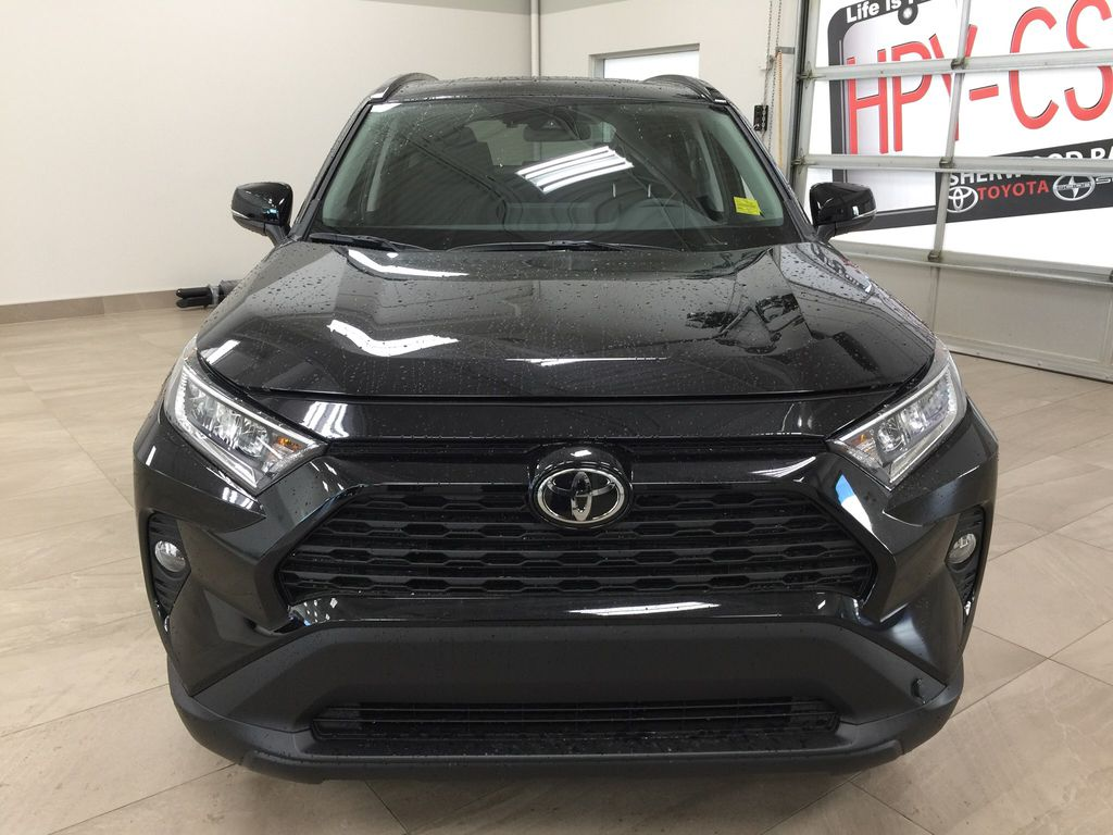 Black[Midnight Black Metallic] 2021 Toyota RAV4 XLE AWD Front Vehicle Photo in Sherwood Park AB