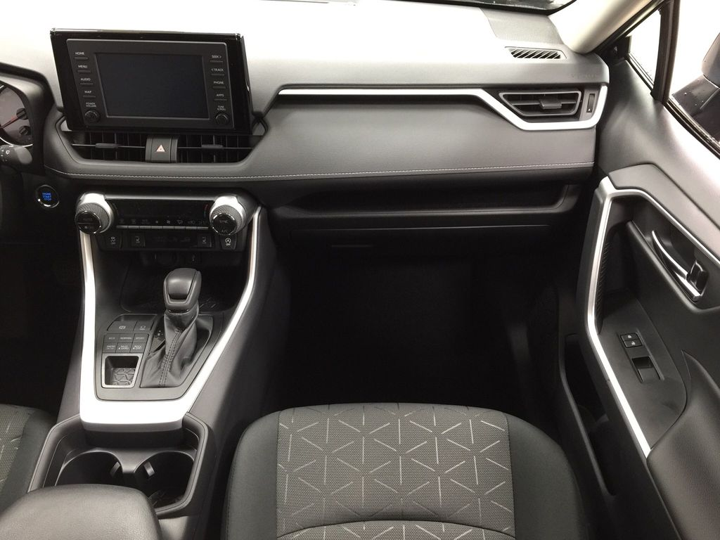 Black[Midnight Black Metallic] 2021 Toyota RAV4 XLE AWD Right Front Seat Photo in Sherwood Park AB