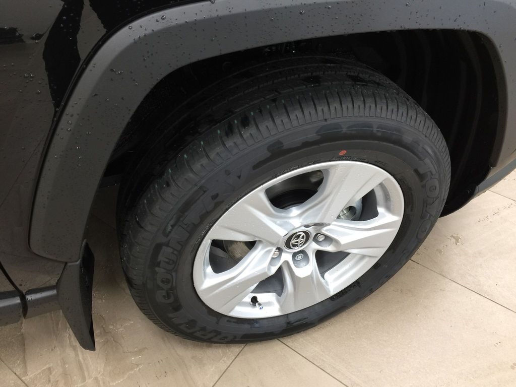 Black[Midnight Black Metallic] 2021 Toyota RAV4 XLE AWD Right Front Rim and Tire Photo in Sherwood Park AB