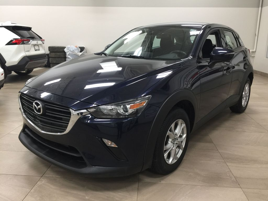 BLUE 2019 Mazda CX-3 GS AWD Left Front Corner Photo in Sherwood Park AB