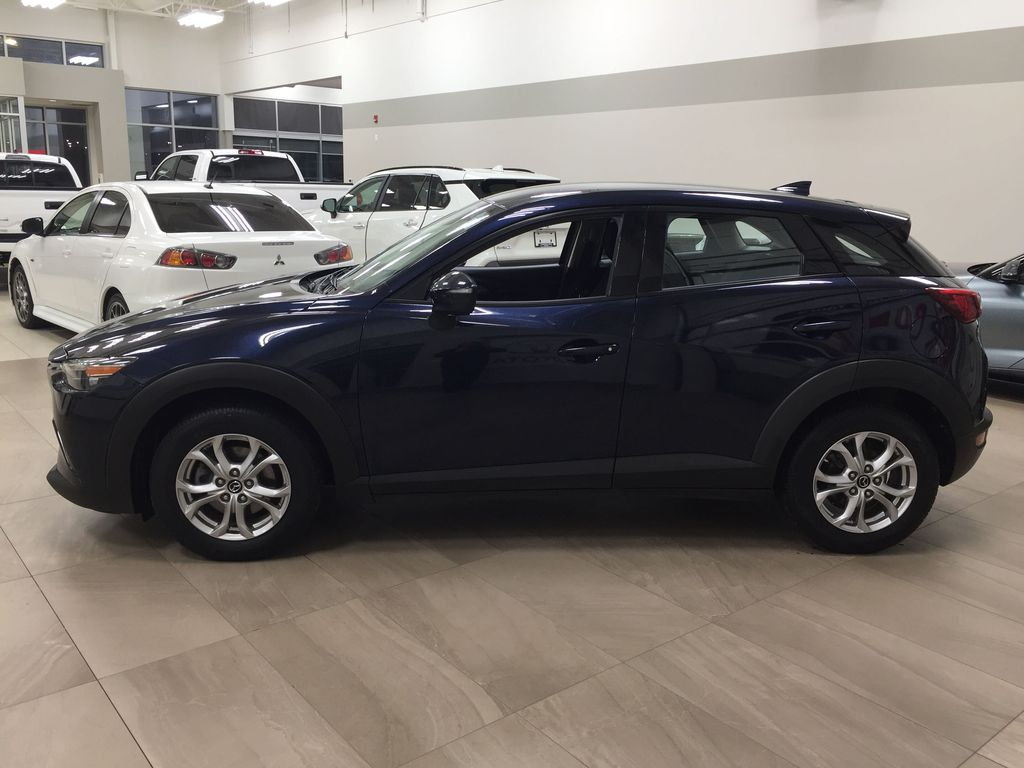 BLUE 2019 Mazda CX-3 GS AWD Left Side Photo in Sherwood Park AB